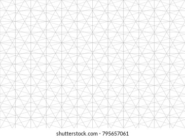 Abstract triangle seamless pattern. Stroke vector background with thin lines
