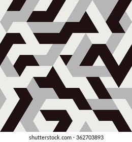Abstract Triangle Seamless Pattern. Vector illustration.