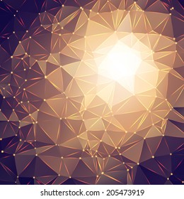 abstract triangle sparkle polygon background. Vector background