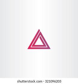 abstract triangle spiral logo vector design