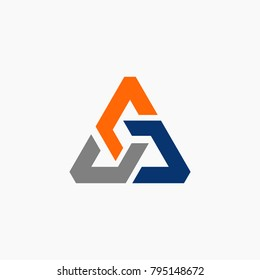Abstract triangle symbol