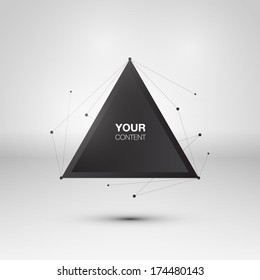Abstract triangle text box design vector
