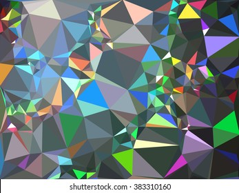 Abstract triangle vector background, imitation of the hologram