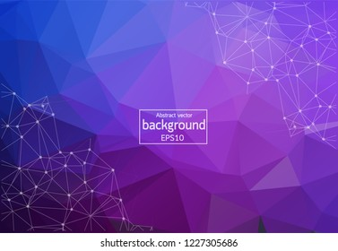 Abstract triangles background. Abstract polygonal design.