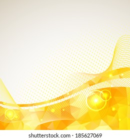 Abstract triangles lines pattern yellow frame