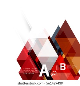 Abstract triangles and lines vector background