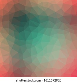 Abstract Trianglify gradient Generative Art background illustration