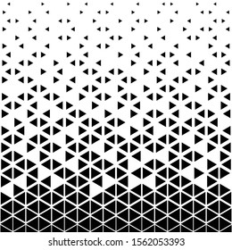 Abstract triangular background. Black white geometric pattern.