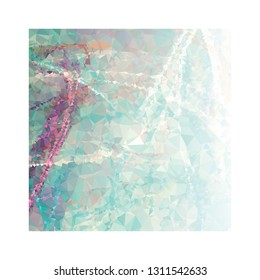 Abstract triangular background with white faded corner