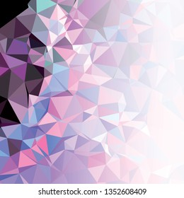 Abstract triangular background with white faded side