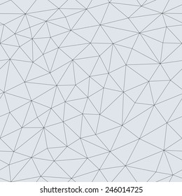 Abstract triangular mesh. Vector seamless linear background.