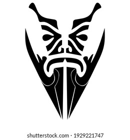 Abstract tribal tattoo on white background