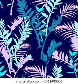 Abstract Tropical Illustration of Leaves