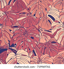 Abstract tropical plant background