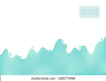 Abstract turquoise gradient background.Vector illustration.