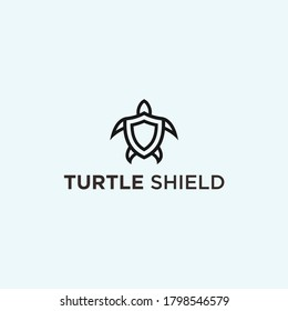 abstract turtle logo. shield icon
