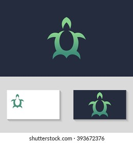 Abstract Turtle logo template. Turtle icon