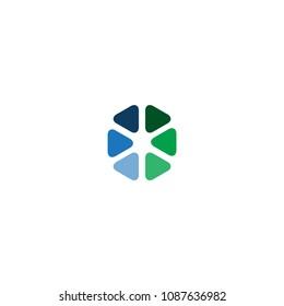 abstract turtles logo vector