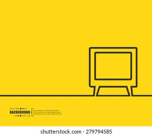 Abstract TV vector background. For web and mobile applications, illustration template design, creative business info graphic, brochure, banner, presentation, concept poster, cover, booklet, document.