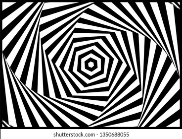 Abstract twisted illusion background patterns. illusion of distorted surface. twister stripes - vector, illustration