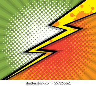 abstract two tone comic book, comic book background vector illustration