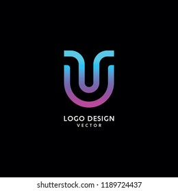 Abstract U Letter Logo Design Vector