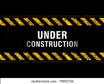 abstract under construction background vector illustration
