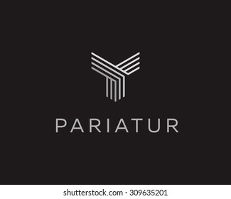 Abstract universal premium logo design. Creative line symbol.