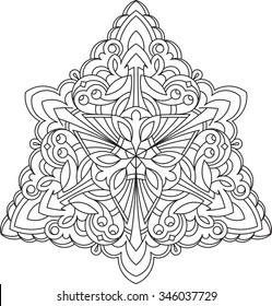 f4f46c8283dcf Abstract unusual triangle round floral round decor lace mandala for your  design or tattoo