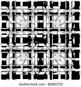 Abstract Urban City Ornamental Building Vector