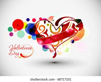 Abstract valentines day heart background with space of your text project.