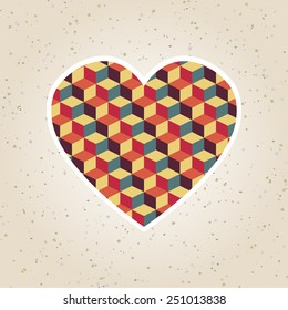 abstract valentine's day retro geometric pattern for design
