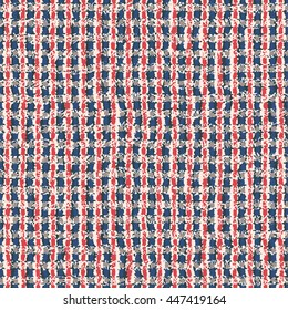 Abstract variegated checked textured seamless pattern.