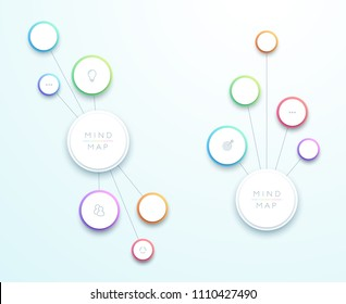 Abstract Vector 3d Vertical Mind Map Infographic