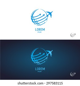 abstract vector airline logo.