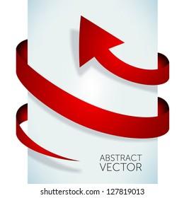 Abstract vector arrow