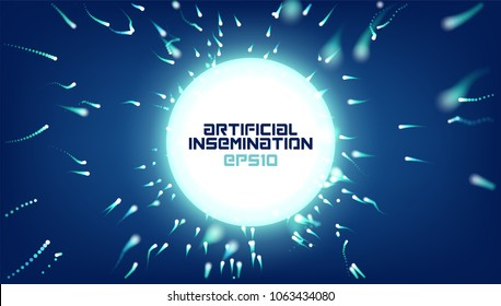 Abstract vector artificial insemination background. Reproduction science