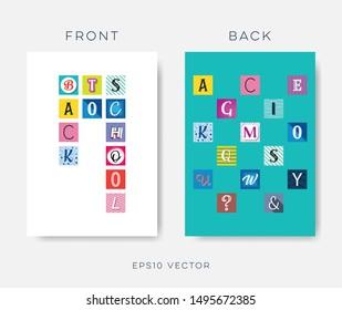Abstract vector back to school brochure design template