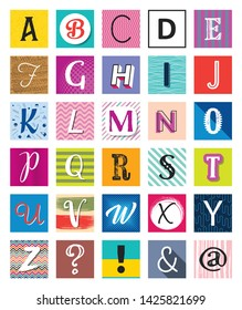 Abstract vector back to school concept funny letters