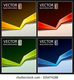 Abstract Vector Background Action Collection