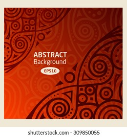 Abstract vector background african pattern