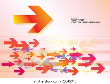 abstract vector background, arrows forward