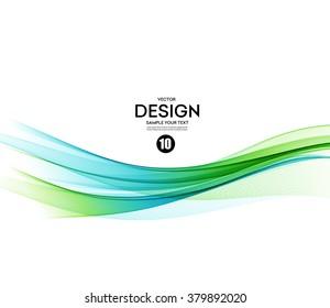 Abstract vector background, blue and green waved lines for brochure, website, flyer design.  illustration eps10