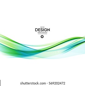 Abstract vector background, blue and green waved lines for brochure, website, flyer design. illustration eps10.