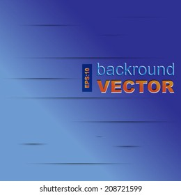 Abstract vector background with blue paper