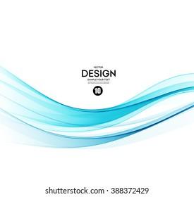 Abstract vector background, blue transparent waved lines for brochure, website, flyer design.  Blue smoke wave.