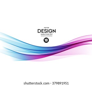Abstract vector background, blue and violet waved lines for brochure, website, flyer design.  illustration eps10