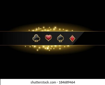 Abstract vector background with casino design elements