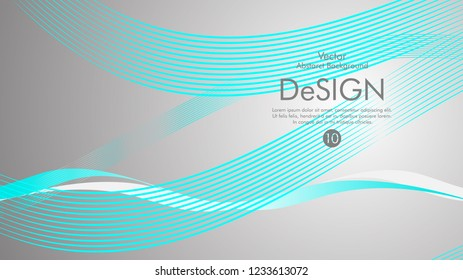 Abstract vector background, color flow waved lines . stock vector