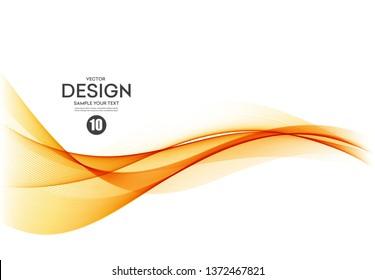 Abstract vector background, color flow waved lines for brochure, website, flyer design. Transparent smooth wave